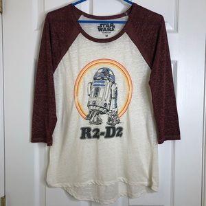 Star Wars R2-D2 Baseball T-Shirt Size Medium